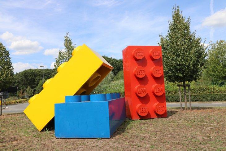 LEGO blokken rotonde.
