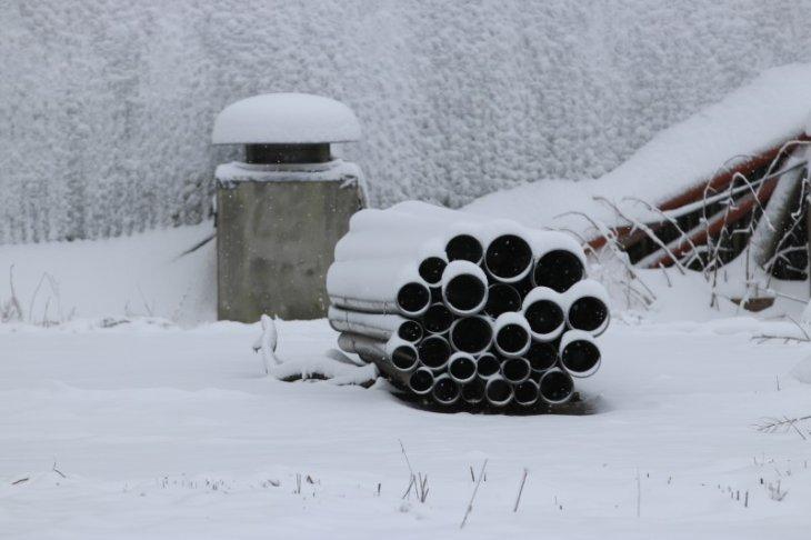 Sneeuw in Maria-ter-Heide (Site Gunfiremuseum).