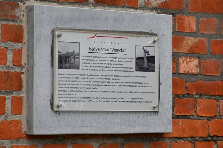 Infobord over balivelotron Vranckx