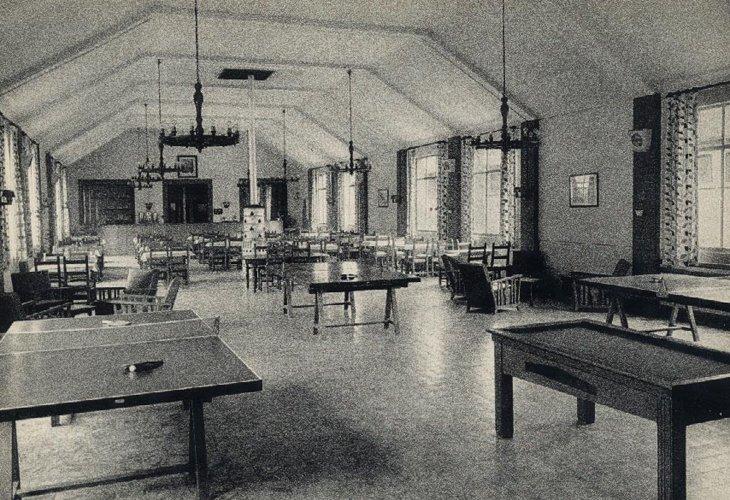 De kantine in het kamp van Brasschaat.