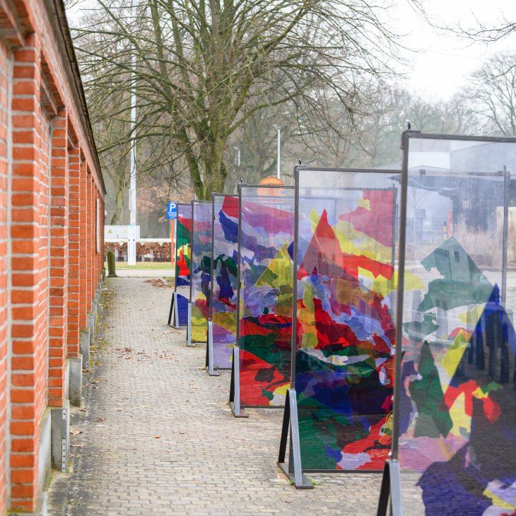 Kunstwerk Color The Flow van Filip Collin.