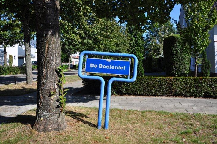 Straatnaambord: Beeldenlei