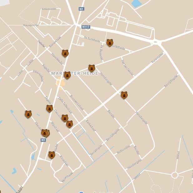 Knuffelberenjacht in Maria-ter-Heide.