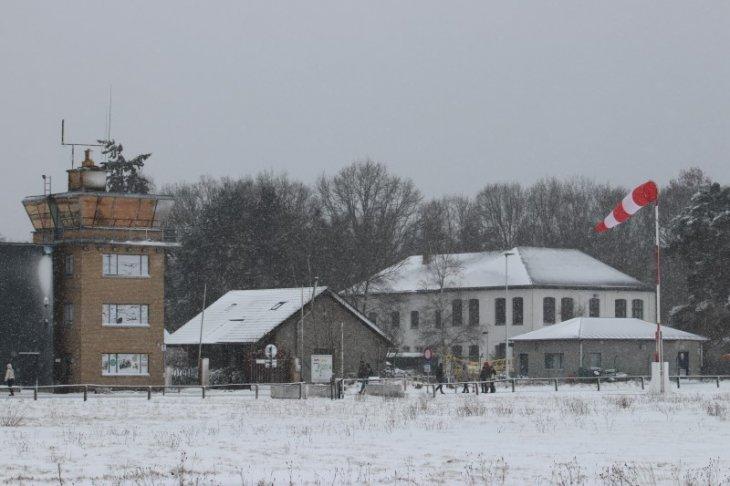 Sneeuw in Maria-ter-Heide (aan het Vliegveld).