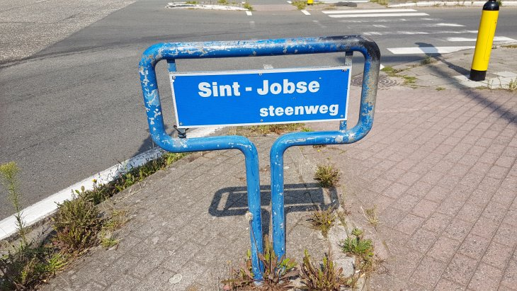 Straatnaambord: Sint-Jobsesteenweg