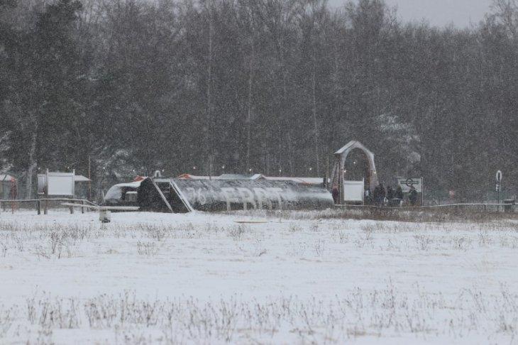 Sneeuw in Maria-ter-Heide (aan het Vliegveld)