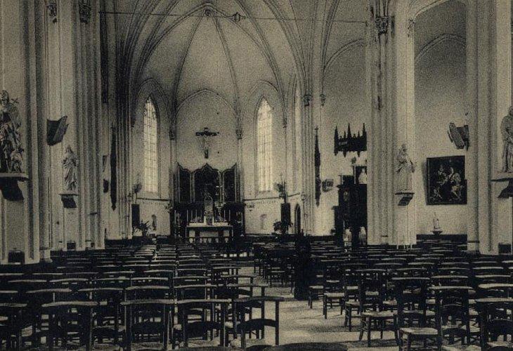 Binnenzicht van de kerk.